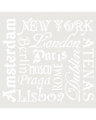Stencil Composicion 092 Ciudades