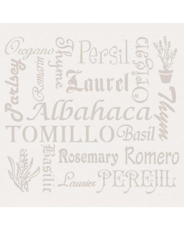 Stencil Composicion 094 Hierbas Aromatica