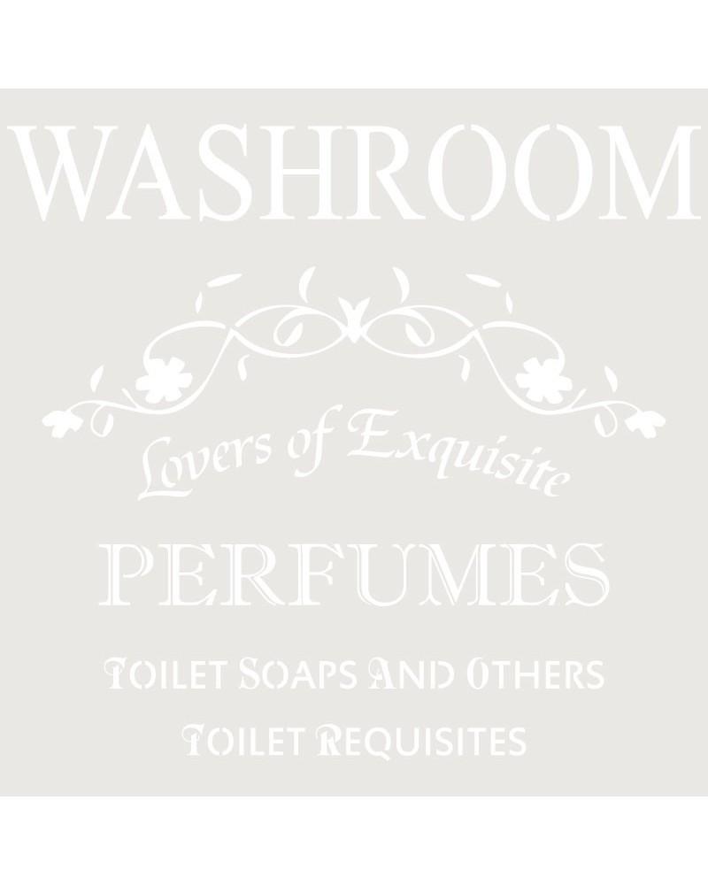 Stencil Composicion 097 Washroom