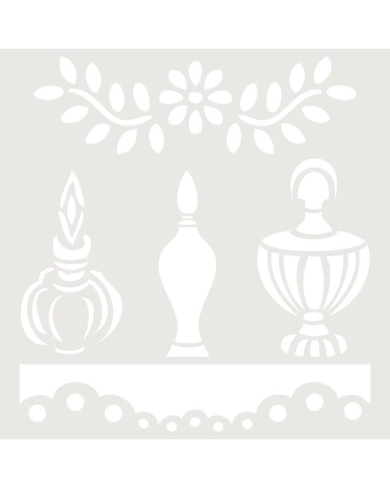 Stencil Composicion 099 Tres Perfumes