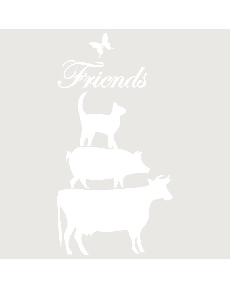 Stencil Composicion 111 Freinds Animales