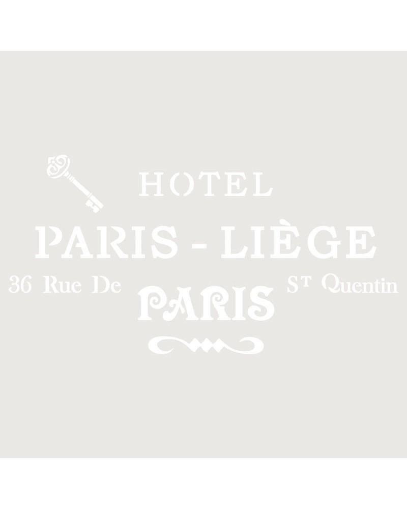Stencil Composicion 113 Hotel Paris