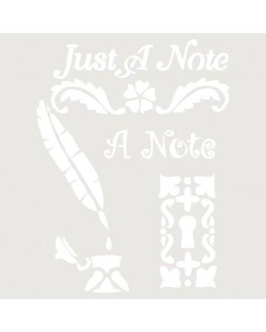 Stencil Composicion 116 Just A Note