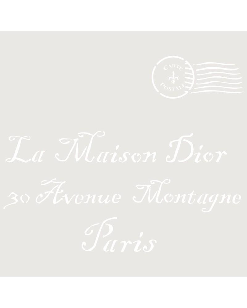 Stencil Composicion 118 Maison Dior