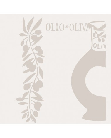 Stencil Composicion 132 Aceite Oliva