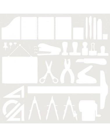 Stencil Composicion 133 Material Oficina