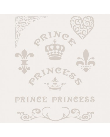 Stencil Composicion 136 Prince Princess