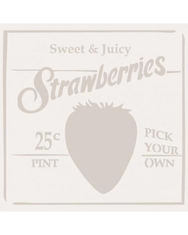 Stencil Composicion 144 Strawberries