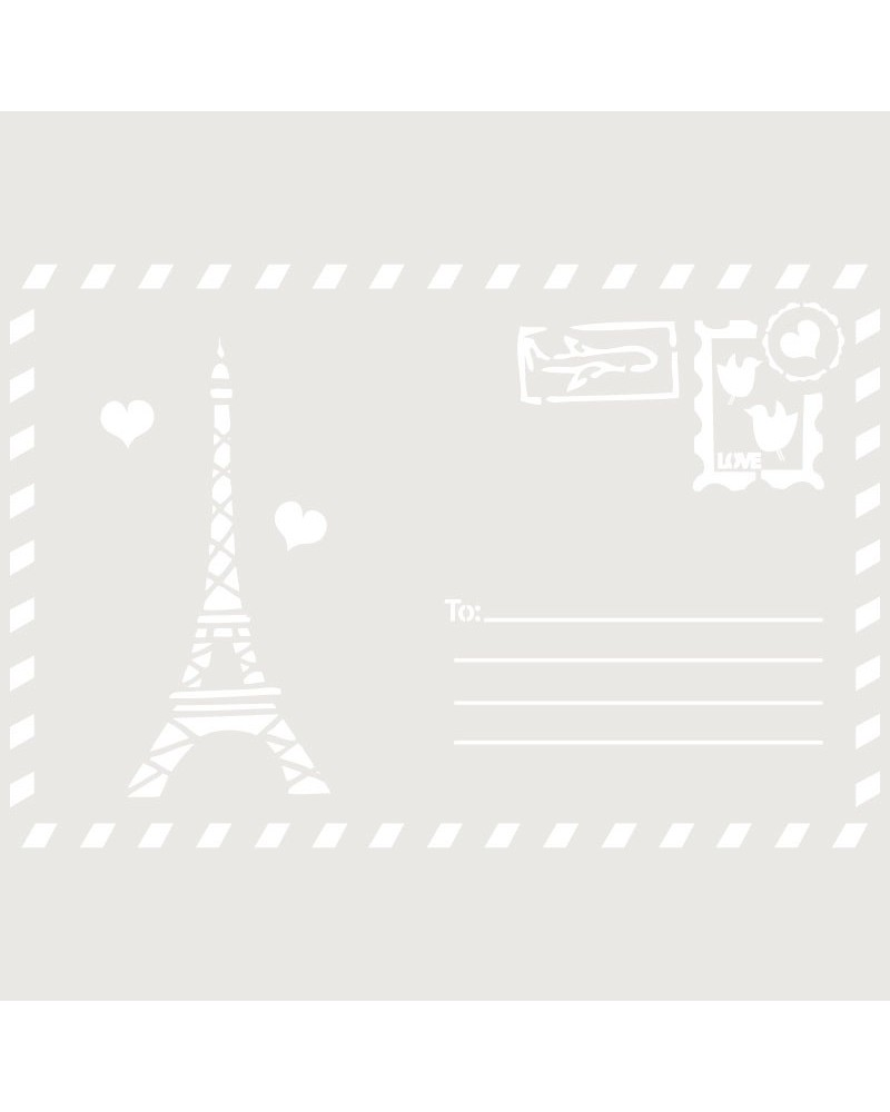 Stencil Composicion 152 Postal Paris