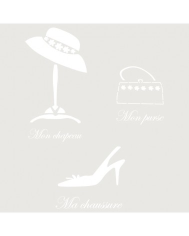 Stencil Composicion 159 Mon Chapeau