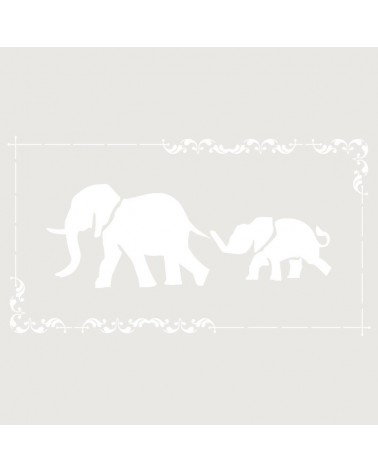 Stencil Composicion 160 Elefantes