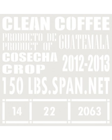 Stencil Composicion 166 Clean Coffee