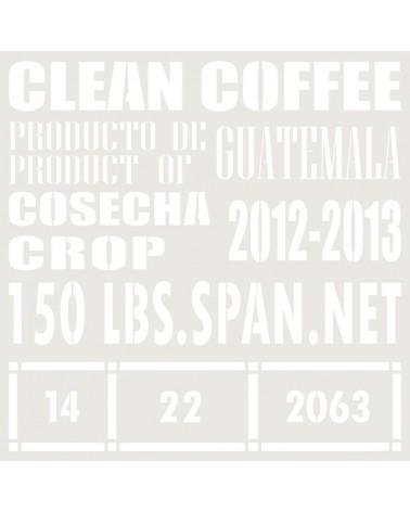 Stencil Composicion 166 Clean Coffee