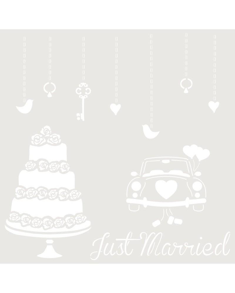 Stencil Composicion 169 Just Married