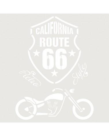 Stencil Composicion 171 Route 66