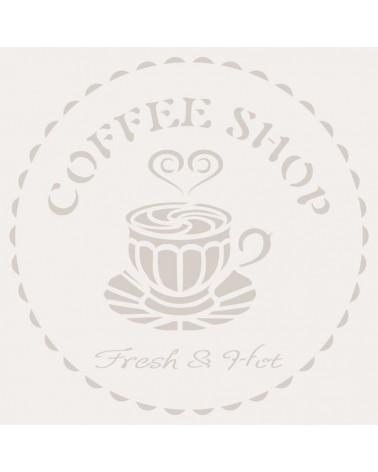 Stencil Composicion 177 Coffee Shop