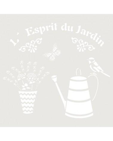 Stencil Composicion 182 Espiritu Jardin