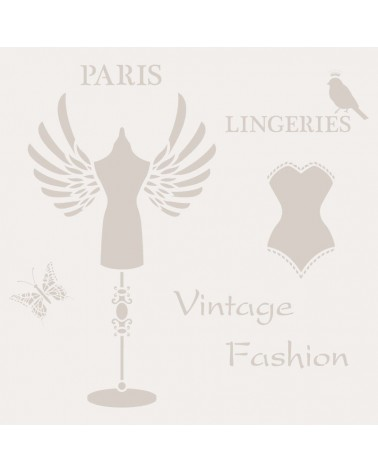 Stencil Composicion 183 Paris Lingeries