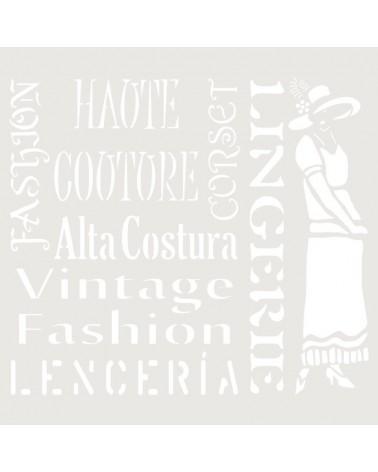 Stencil Composicion 184 Fashion
