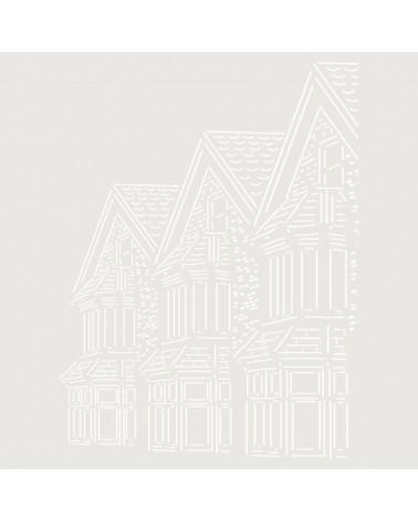 Stencil Composicion 187 Casas Inglesas