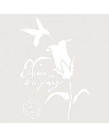 Stencil Composicion 188 Colibri Flor