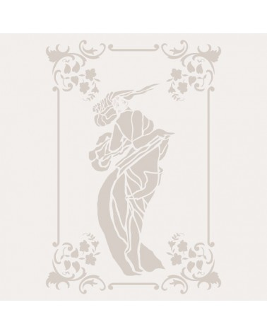 Stencil Composicion 189 Mujer Art Deco