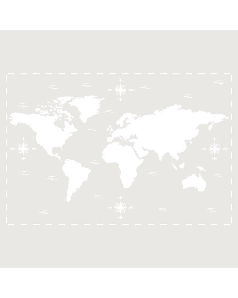Stencil Composicion 190 Mapa Mundi