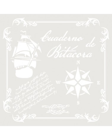 Stencil Composicion 210 Cuaderno de Bitacora
