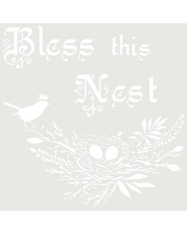 Stencil Composicion 213 Bless this nest