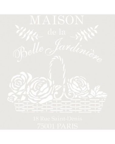 Stencil Composicion 215 Maison Belle Jardin