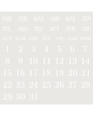 Stencil Composicion 232 Calendario Perpetuo