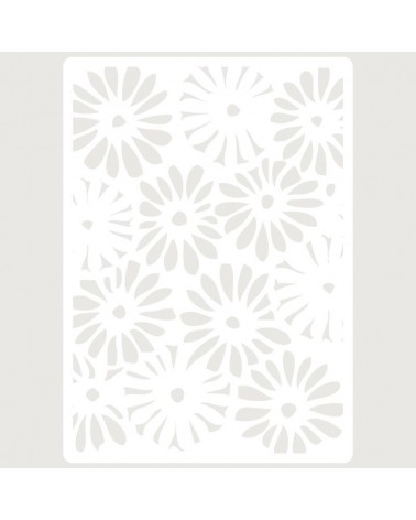 Stencil Embossing 013 Flores