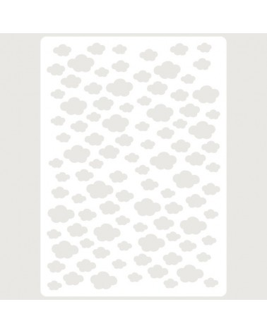Stencil Embossing 016 Nubes