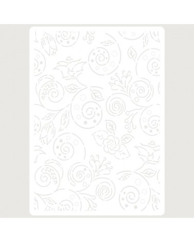 Stencil Embossing 024 Flores
