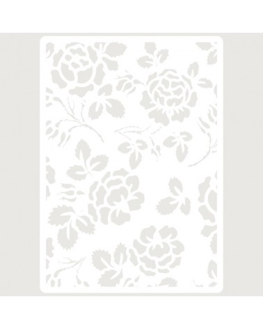 Stencil Embossing 036 Flores