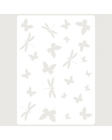 Stencil Embossing 059 Libelulas y Mariposas