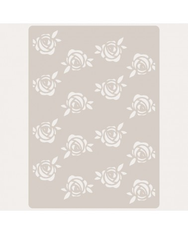 Stencil Embossing 061 Rosas