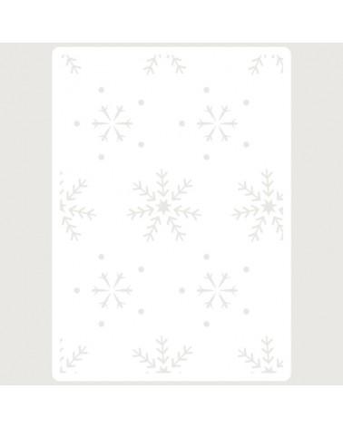 Stencil Embossing 069 Copos de Nieve