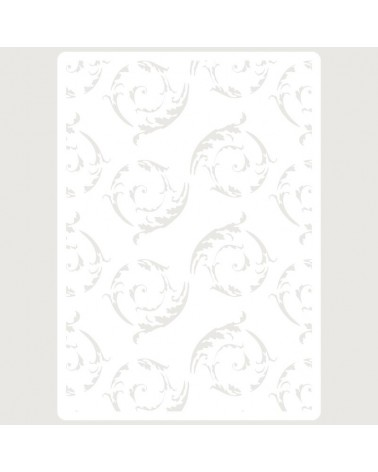 Stencil Embossing 072 Floral