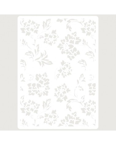 Stencil Embossing 074 Floral