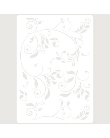 Stencil Embossing 075 Floral