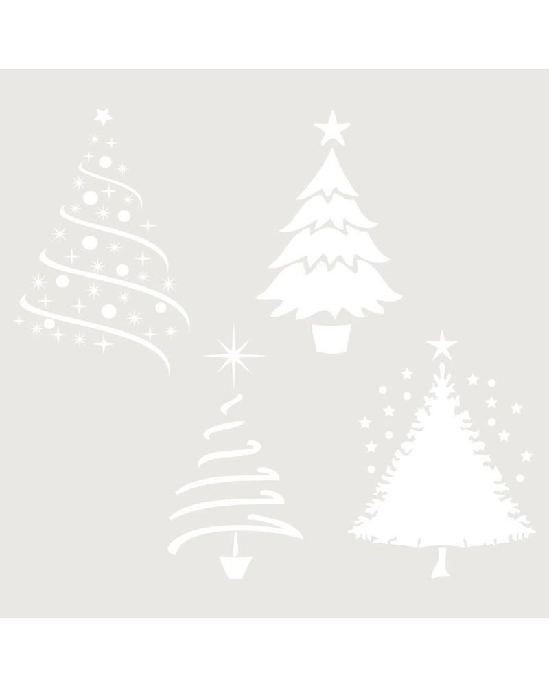 Stencil Fiesta 003 Arboles De Navidad