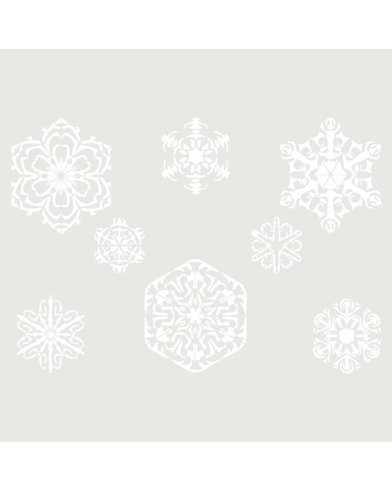 Stencil Fiesta 009 Copos De Navidad