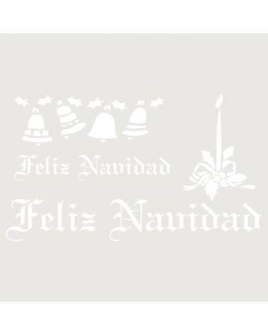 Stencil Fiesta 022 Feliz Navidad