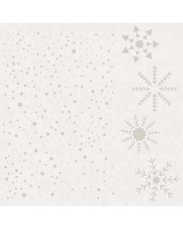 Stencil Fiesta 027 Copos Nieve