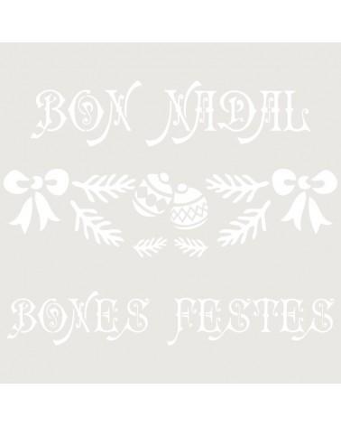 Stencil Fiesta 028 Bon Nadal