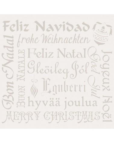 Stencil Fiesta 029 Feliz Navidad