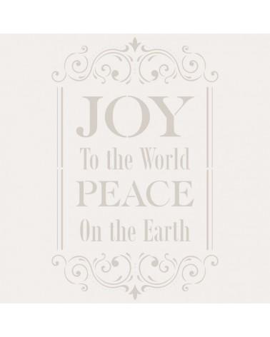 Stencil Fiesta 033 Joy to the World