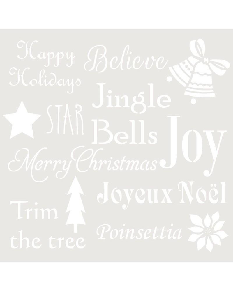 Stencil Fiesta 034 Palabras Navidad