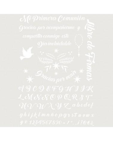 Stencil Fiesta 037 Texto Comunion